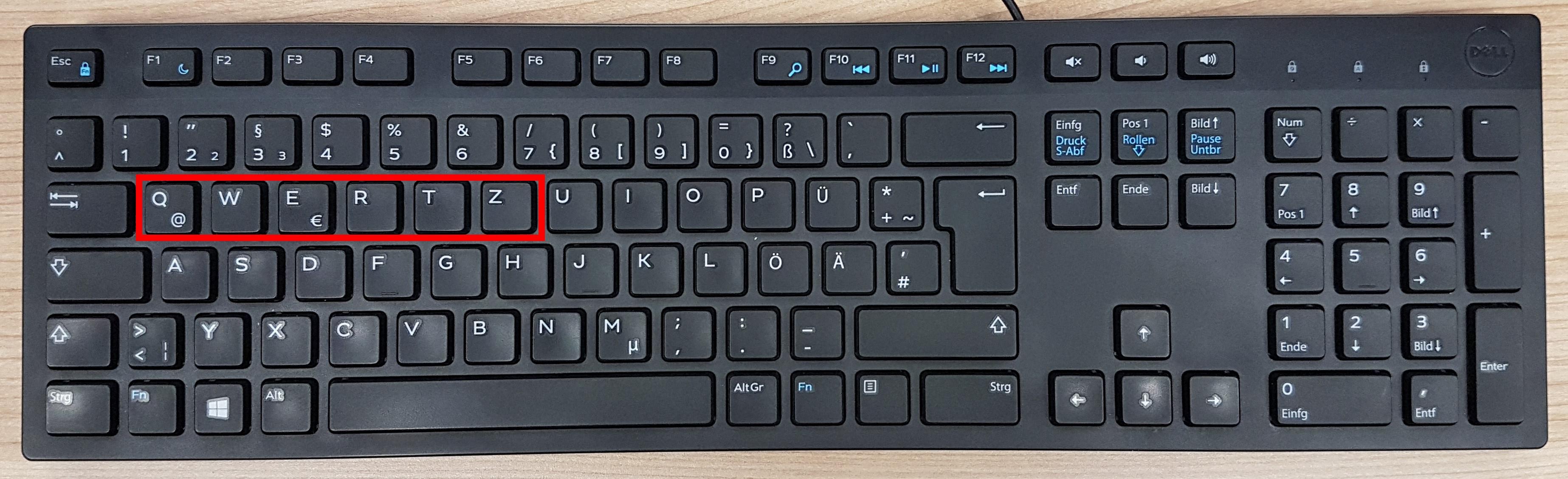QWERTZ Tastaturbelegung
